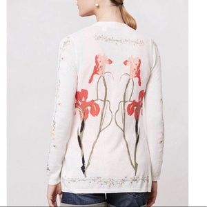 Anthro Guinevere floral thin cardigan size small